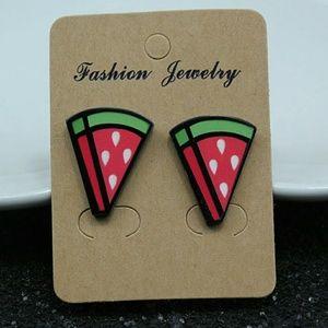 Jewelry - Trendy Water Melon Stud Earrings 2.2cm*1.7cm Women